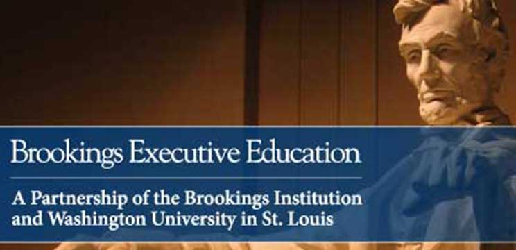 Olin's Brookings Executive Education program offers courses for a variety of government leaders